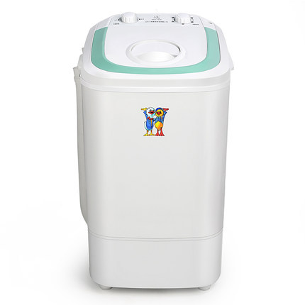 Freeshipping 300w power Mini washer can wash 3.6kg clothes single tub top loading washer Semi-automatic dehydrating machine image