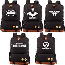 ef89429db2 Wonder Woman Batman Giochi PUBG OW Ragazza Del Ragazzo Dei Bambini del  sacchetto di Scuola Delle