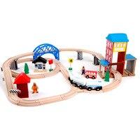 Игрушка транспортных средств для детей игрушки поезд игрушка модели автомобилей головоломки здание слот железнодорожных путей пути в нали