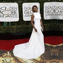 Goldene Globale Academy Awards 2016 Oscar Kleider Meerjungfrau Roter Teppich Kleider Elegante Weiße Formale Promi Abend Prom Kleider OE9