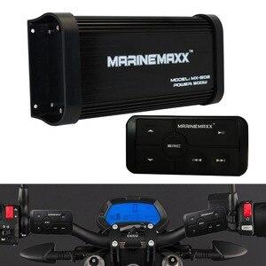 Image 2 - 500W 4 Kanäle Wasserdichte Marine Bluetooth Motorrad Verstärker Auto Stereo Audio Mit Controller Für Boot ATV UTV Golf Warenkorb