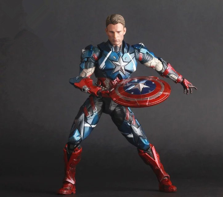 Movie Figure 25 CM The Avengers Civil War Captain America PVC Action Figure Collectible Toy Model Christmas Gift marvel captain america civil war scarlet witch black panther winter soldier falcon pvc action figure collectible model toy