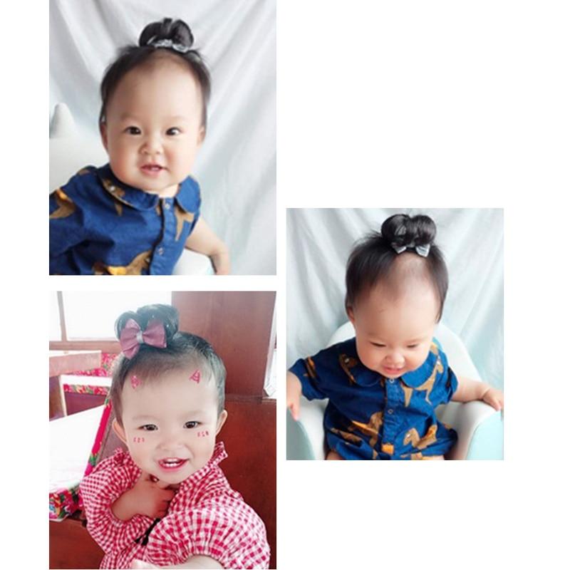 33ff6a72d6dae BalleenShiny Wig Hair Clips Baby Girls Cute Bowknot Glitter Crown ...