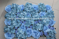 SPR Free Shipping light blue 10pcs/lot wedding favor elegant champagne artificial flower wall for decoration hanging wall flower