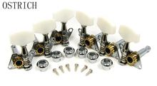 Chrome Open-gear Guitar Tuners/Machine Heads – 6-piece 3 Left / 3 Right Alignment