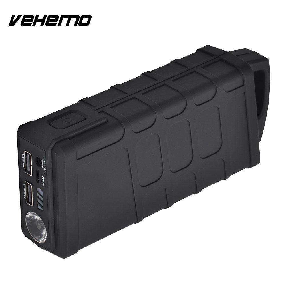 Vehemo Automobile bloc d'alimentation batterie saut démarreur saut démarreur 10000 mAh US/EU/UK/AU Plug Smart 600A crête chargeur de batterie