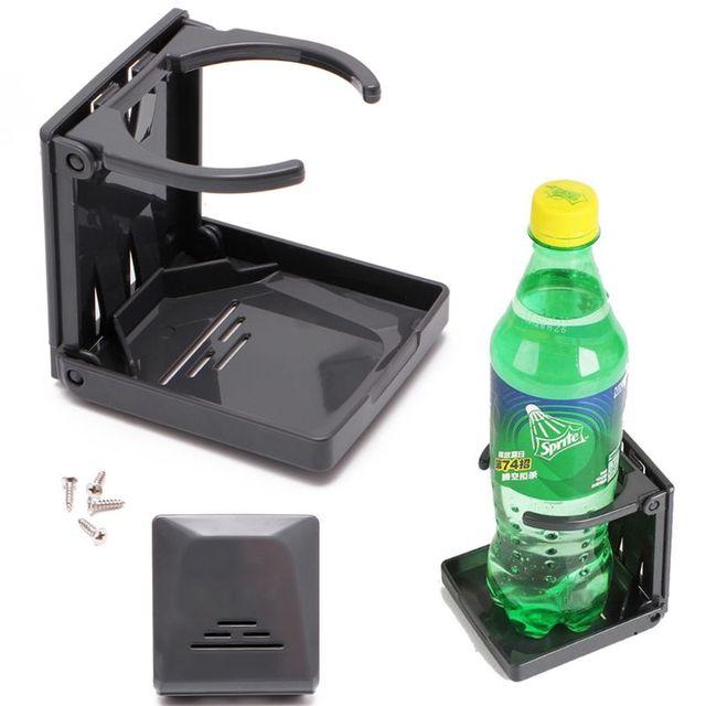 Siyah katlanır İçecek kupası şişe tutucu standı montaj araba oto tekne olta takım kutusu