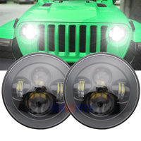 front headlight For Jeep JK 7 Round Headlight Led For Jeep Wrangler 97 15 Hummer Toyota Defender 7 LED Headlamp