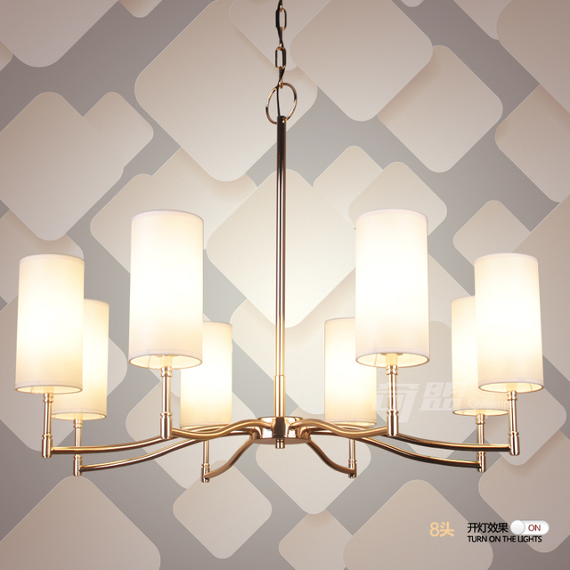 Multiple Chandelier American Lights silver plated gold straight ...
