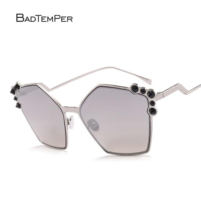 Badtemper Vintage Carré lunettes de Soleil Sans Monture Femmes 2017 D été  Plage Alliage Cadre b46557cf891f