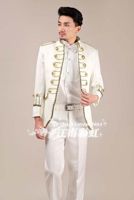 Masculino 2014 nova magro dos homens de roupas de moda estilo tribunal Europeu desgaste estágio show hospedado terno do casamento casaco cantor dançarino roupas