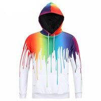 Freude Nur 2018 Frauen/Männer Kreative 3D Hoodies Dazzle farbe Farbe Milch Gießen Drucken Mit Kapuze Sweatshirt Mode Pullover Kleidung Tops