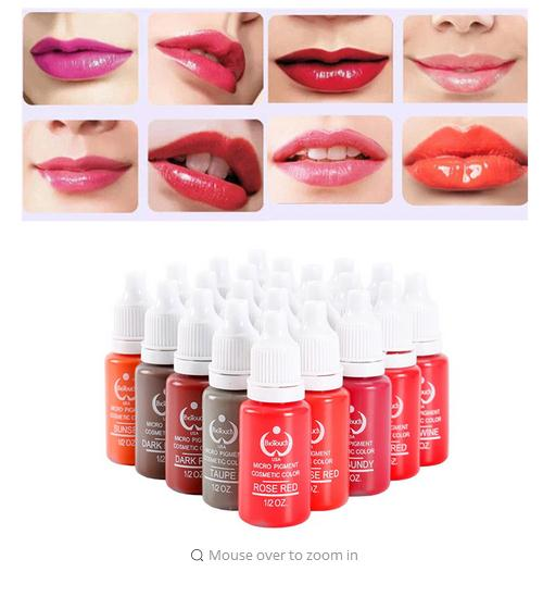 15 ml/bottle 10-piece set tattoo tattoo ink permanent makeup pigment 10 color body painting set coating for Microblading lip dye turndown collar tie dye ink painting print shirt