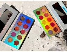 Professional 10 Colors Eyeshadow Palette Glitter Shimmer Matte Eyeshadow Pallete Pigment Smoky Nude Makeup Eye shadow Palette