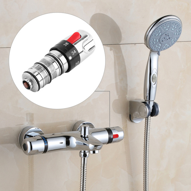 Bathroom Thermostatic Mixer Tap Spool Replacement Mixing Bath Shower Water Heater Valve