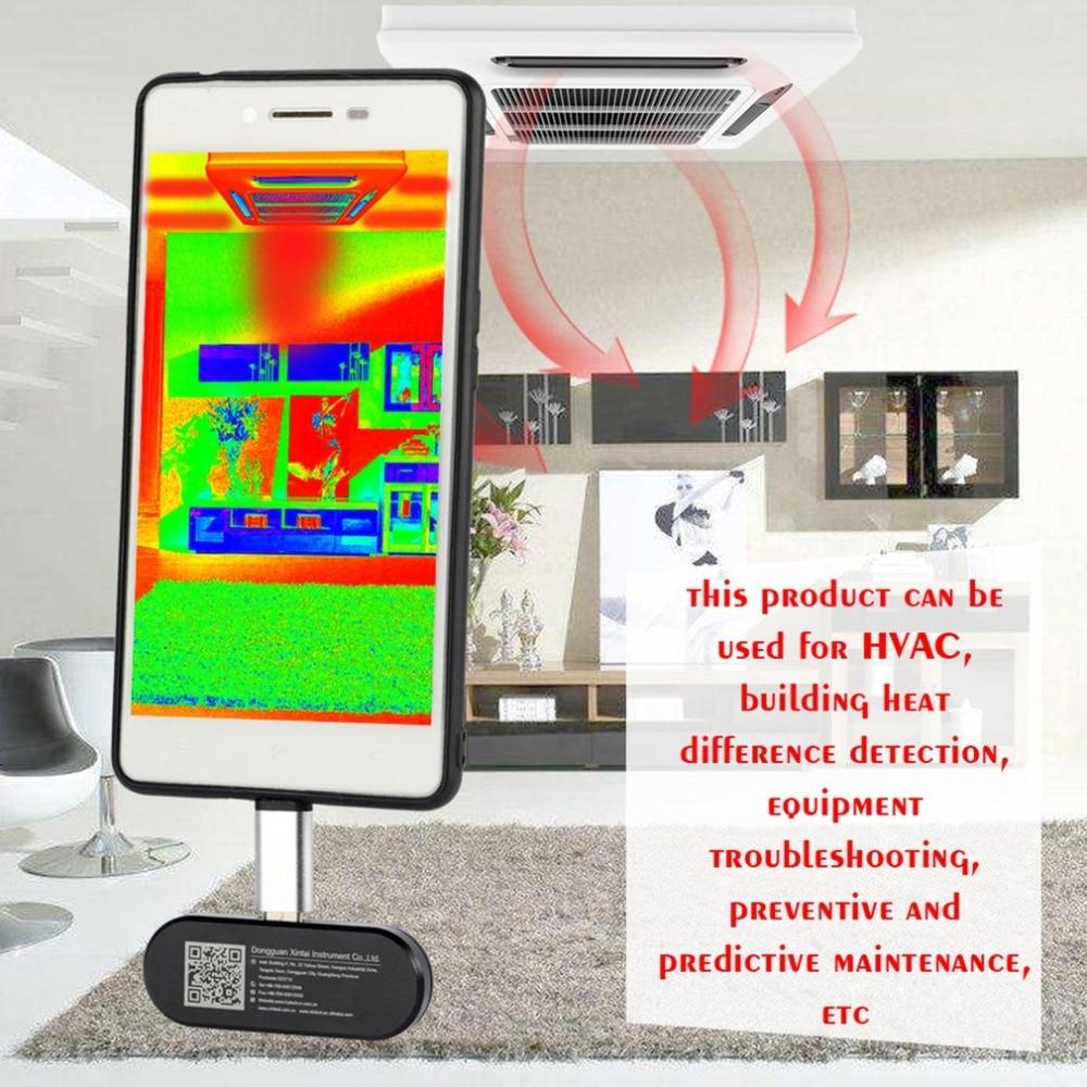 Esterna Del Telefono Mobile A Raggi Infrarossi Termocamera A Raggi Infrarossi Della Macchina Fotografica Termometro Android Del Telefono La Funzione OTG Con Adattatore