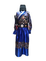 2018 New Chinese National Hanfu Black Ancient China Costume Hanfu Men Clothing Traditional National Tang Suit