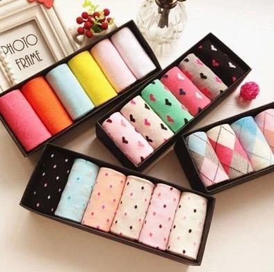 6pairs/lot Wholesale Autumn WInter Women Socks Candy Color Cotton Casual Socks Warm Breathable  Socks