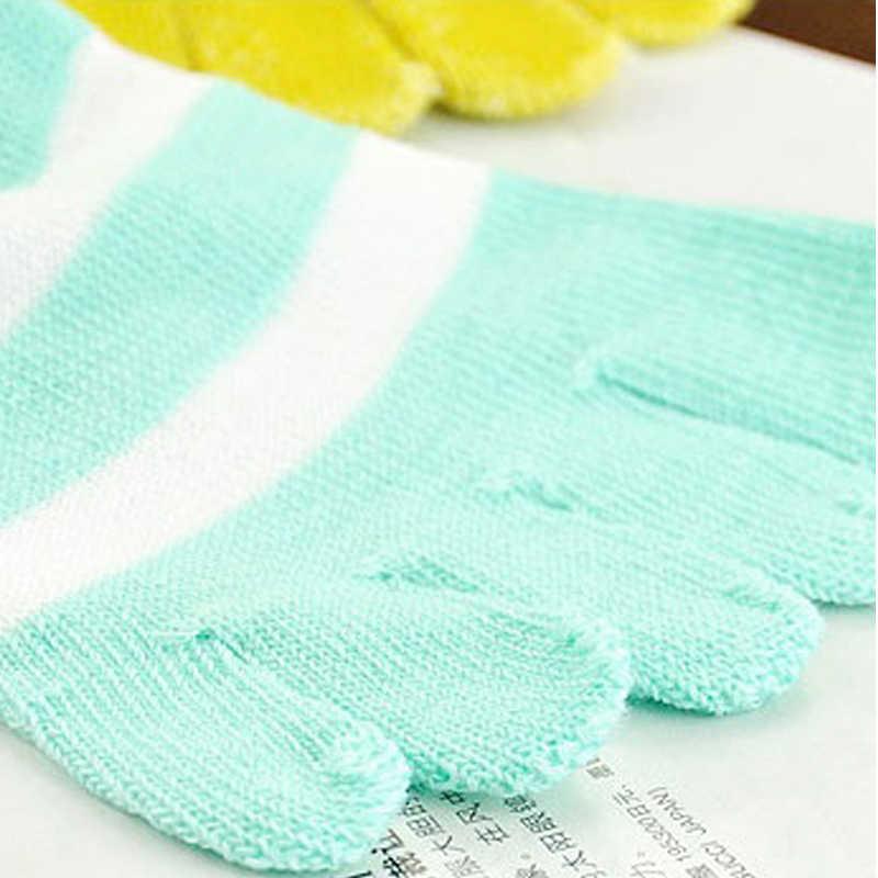 Модные полосатые милые пять пальцев ног носки женские Харадзюку хлопковые носки хипстер уличная Kawaii лодыжки забавные носки женские Meias