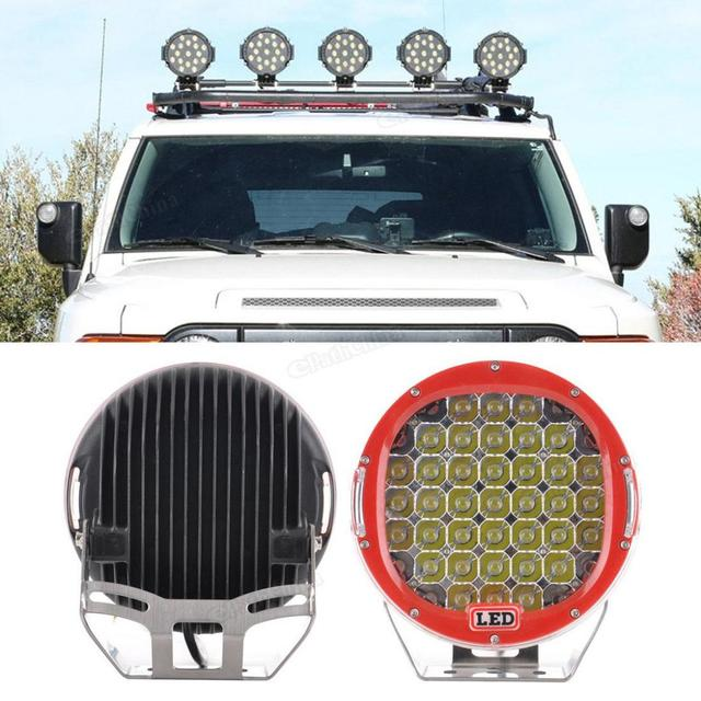 13786ed47088 9 Inch 185W LED 6000K Auto Car Work Driving Lights Spot light Offroad HID  for Jeep Offroad ATV Truck SUV Car Truck