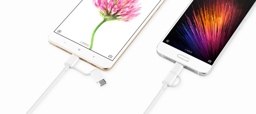 Image 2 - Original Xiaomi Charg cable 30cm 2 in 1 Micro usb to type C Fast charger Cable For mi mix 2 2s 3 max 8 se 6 6x a1 a2 redmi-in Mobile Phone Cables from Cellphones & Telecommunications