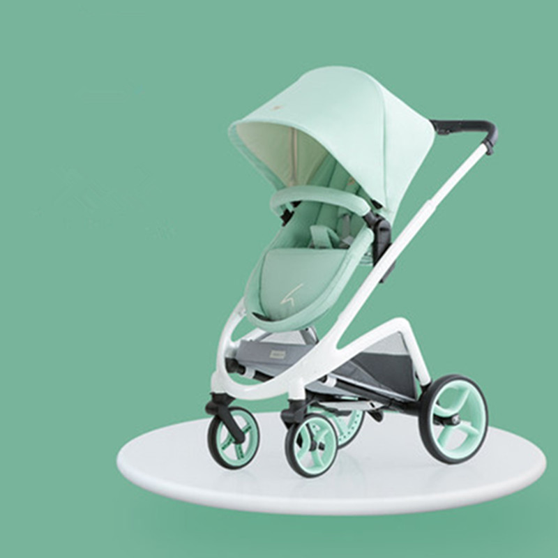 2018 Fashion baby stroller high landscape can sit reclining collapsible 4 wheel baby carriage for dolls