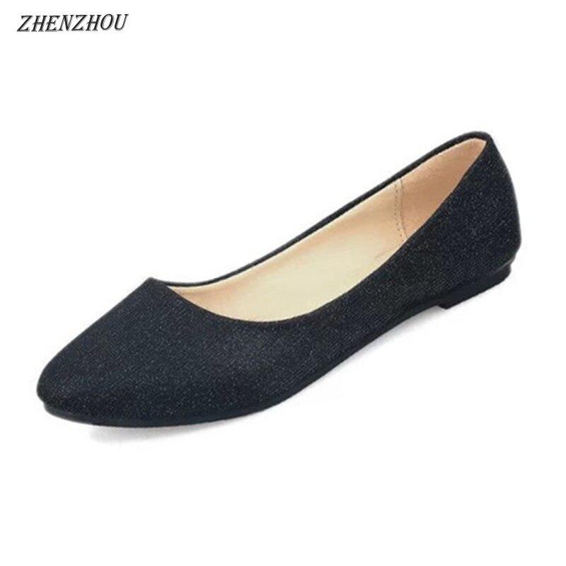 Nouveau Confortable Printemps Bouche Lumineux De Couleur Du noir Point Simples Femmes Zhenzhou argent Beige Profonde été pourpre Mode Visage Peu 2018 Chaussures qZn4fwt