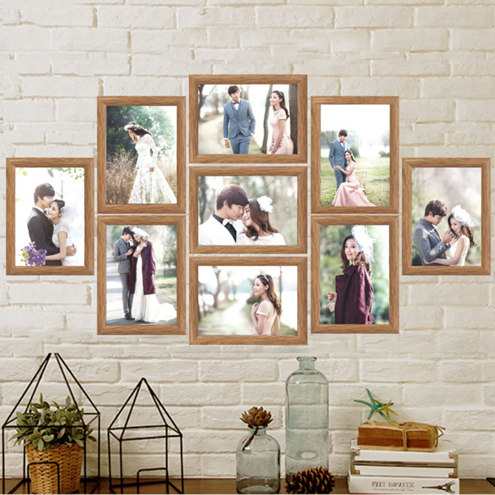 frame collage picture photo frame set wall hanging family photo frames cadre photo moderne. Black Bedroom Furniture Sets. Home Design Ideas