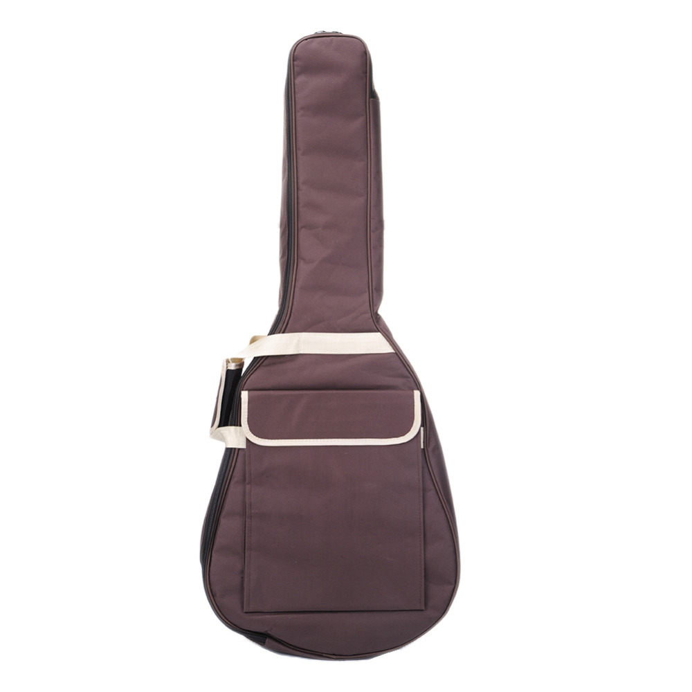 41 inch Guitar Bag Guitar Backpack Canvas Dual Shoulder Straps With 1 Front Pock Convenient (no packaging) pattern thicken waterproof soprano concert tenor ukulele bag case backpack 21 23 24 26 inch ukelele accessories guitar parts gig