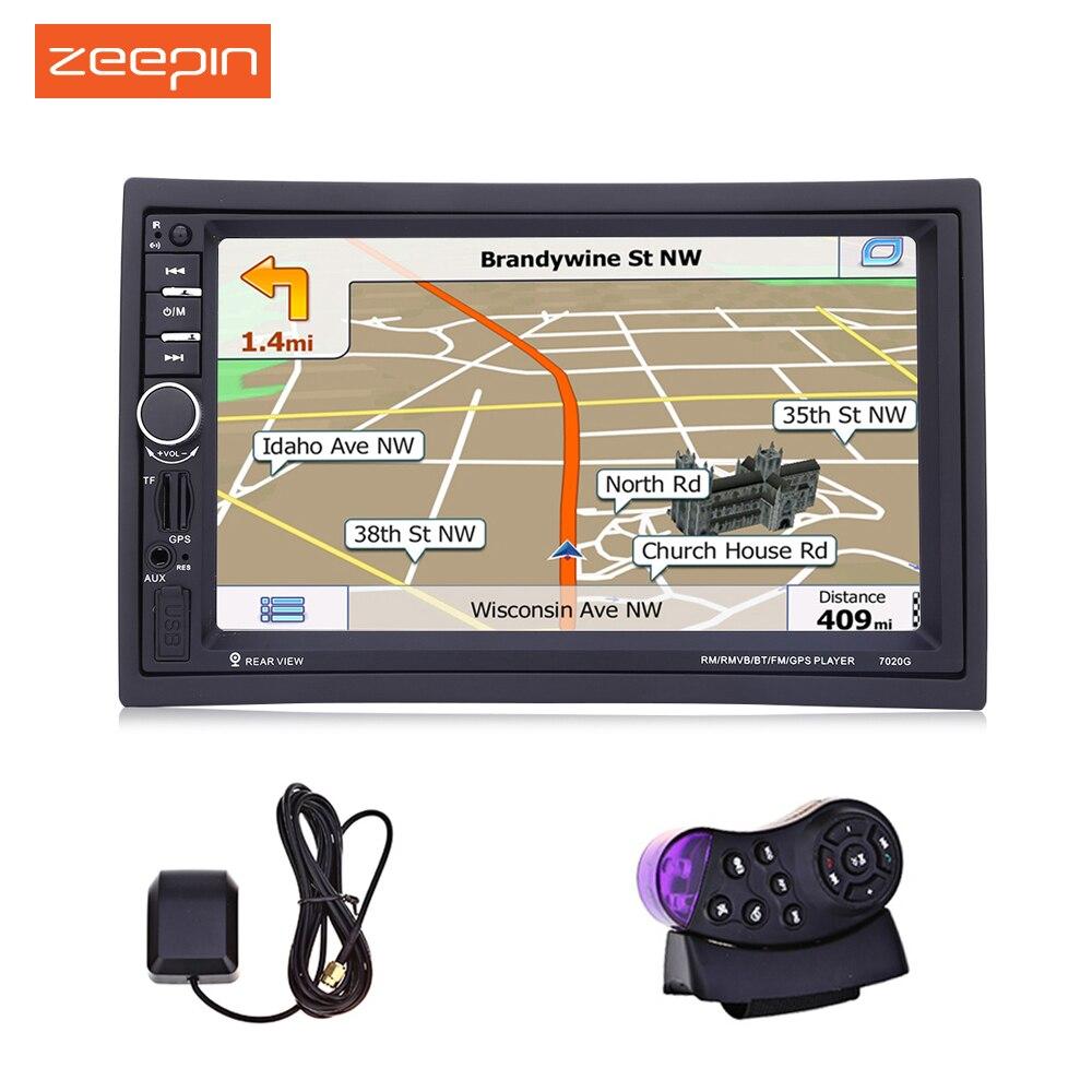 Zeepin 7020g 7 pouce Voiture Audio Radio Stéréo FM MP5 Lecteur 12 v Auto Vidéo Télécommande GPS Navigation fonction avec Cartes Gratuites