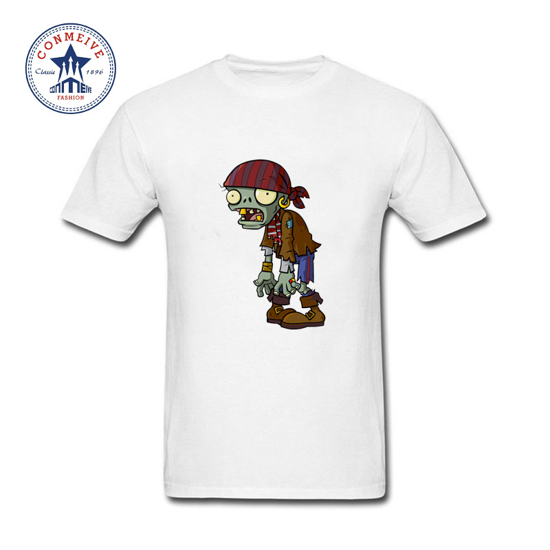 2017 Hot Selling Funny plants vs zombies Funny T Shirt for men