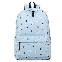 Fashion Women Cotton Shoulder Bag Student Bag School Girl Casual Moon Printing Daily Backpack Ladies Laptop Travel Bag