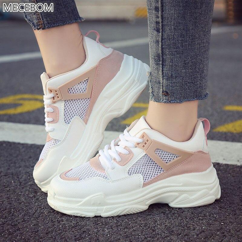 Mecebom 2018 אופנה נשים נעלי גופר 89 w פלטפורמת סניקרס גבירותיי גומי שטוח העקב Zapatillas מוקסינים Mujer הנעלה