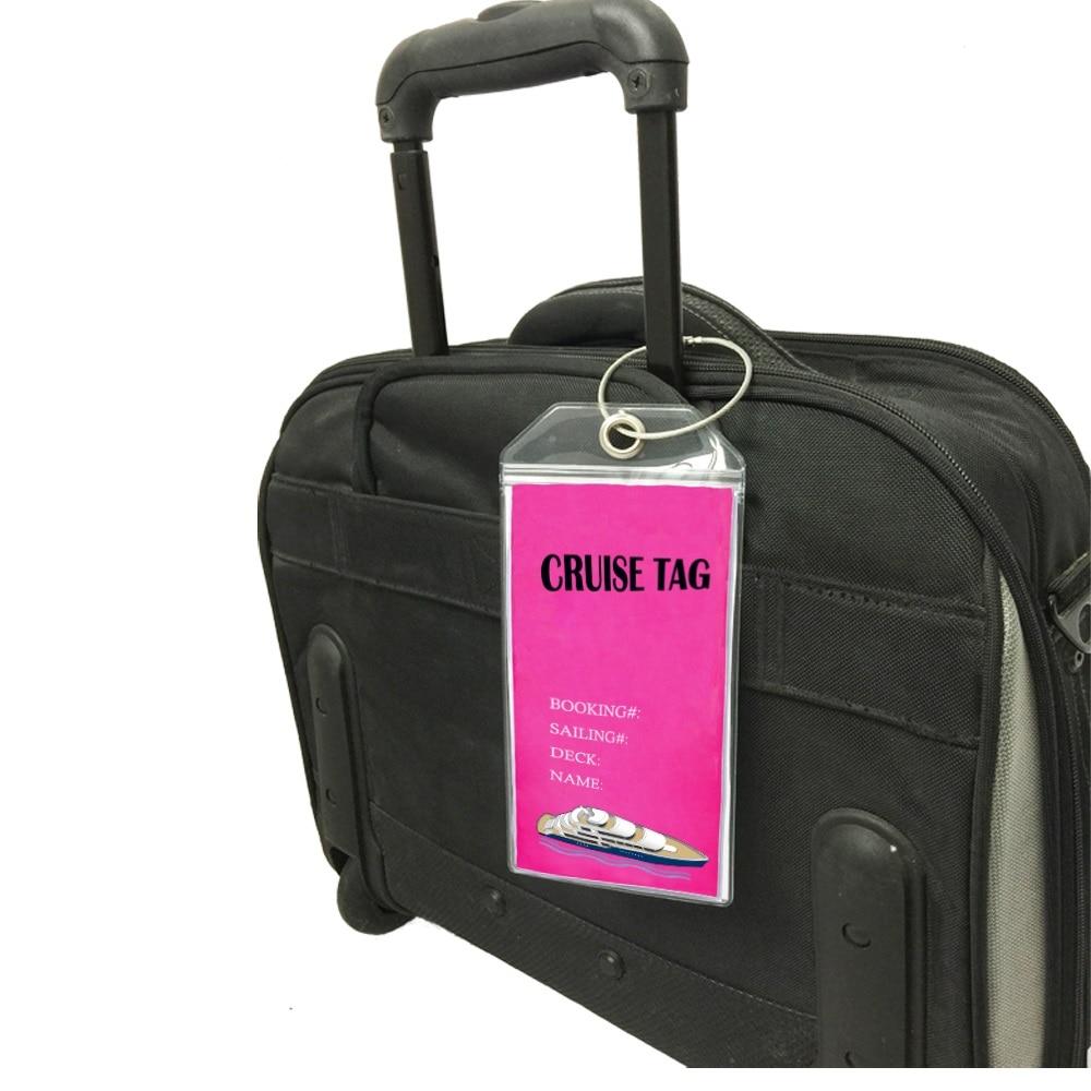Cruise Tags Luggage Etag Holders For Princess, Carnival, Costa, Holland America, P&O, Norwegian Cruise Ships
