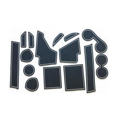15 sztuk/zestaw dla Mitsubishi Asx 2013-2017 Car Styling Slot Pad wewnętrzna mata do schowków na drzwiach lateksowa poduszka na zagłówek wewnętrzna dedykowana