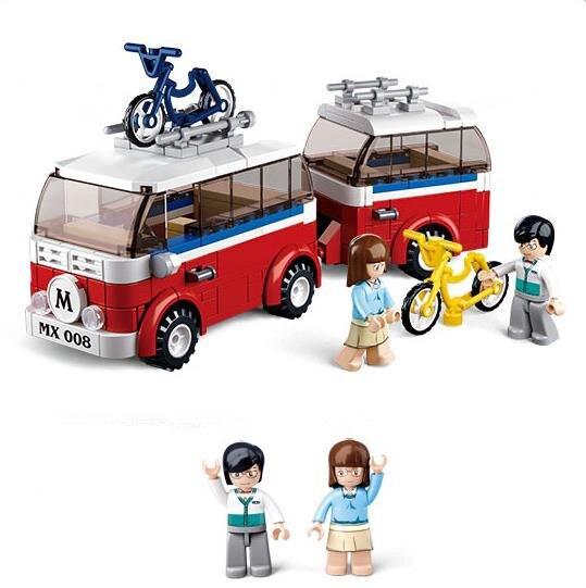 8d8aa21f2af852 2018 New Sluban 324Pcs Simulation City Series Camper Van Motorhomes  Building Blocks Car Model Figure Toy Gift Compatible Legoe