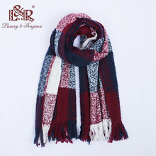2018 Winter Scarves for Women Classic Patchwork Scarf Women Tassel Blanket Cashmere Scarf For Ladies Warm Pashmina Shawls Stoles