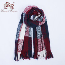 a85c9e686175e 2018 Winter Scarves for Women Classic Patchwork Scarf Women Tassel Blanket  Cashmere Scarf For Ladies Warm