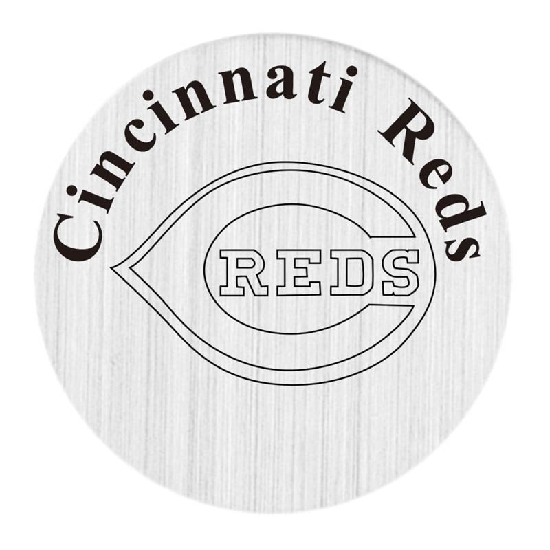 Cincinnati Reds Floating Plates Stainless Steel MLB Window Plate Fit 30mm Charm Locket Pendants 5PCS