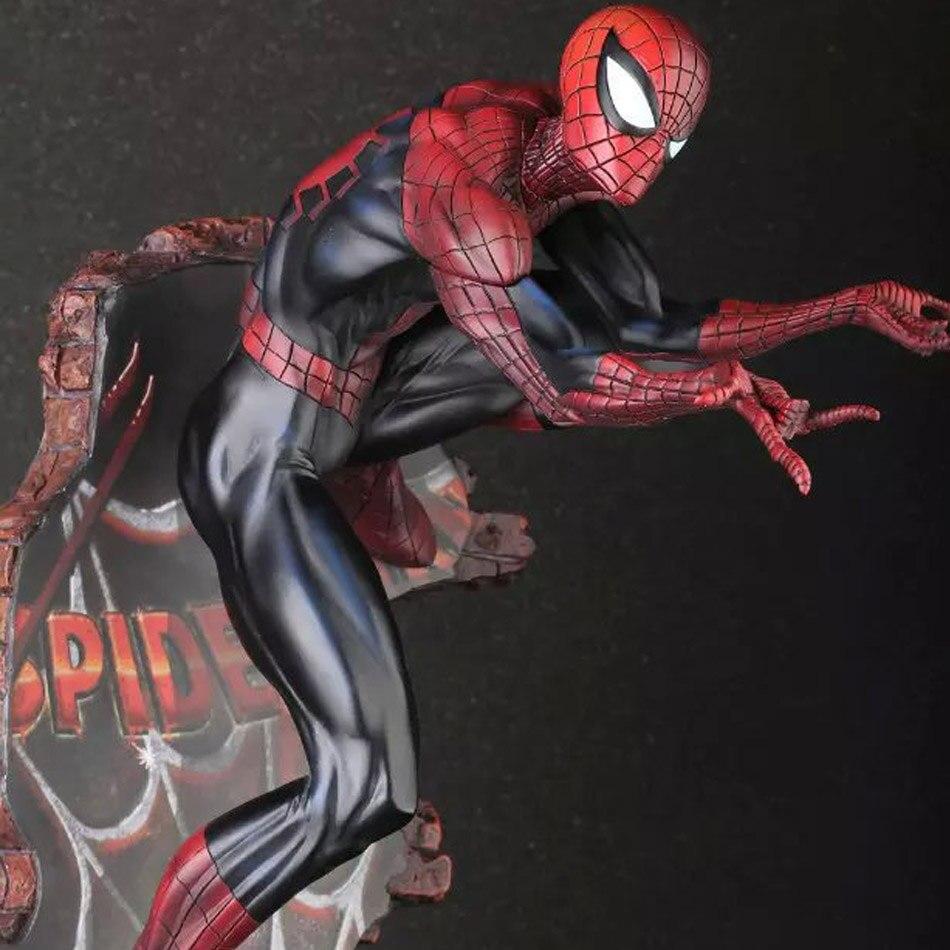 <font><b>Spiderman</b></font> 1pcs 50cm <font><b>2</b></font> Color The Amazing <font><b>Spiderman</b></font> Action Figure Decoration Marvel Collection Model Dolls Kids Toys 1211
