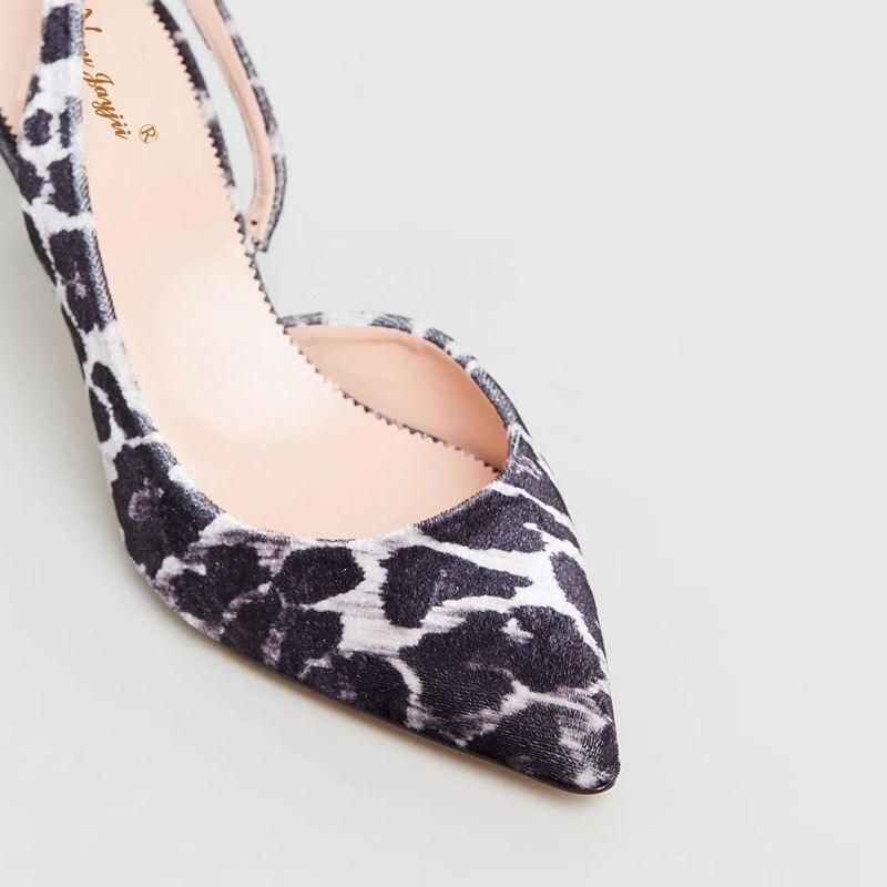Élégante Pointu Haute Bout Super Femme Dames Nancyjayjii Mince Ty01 Partie Doux Slingbacks Mixte Talons 2019 Chaussures Mode couleurs Pompes Wqa8v44zc