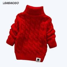 Lememogo/От 1 до 4 лет свитера для мальчиков и девочек; однотонные детские свитера с высоким воротником; мягкие теплые зимние свитера с высоким воротником и длинными рукавами для девочек