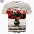 Mr.1991 funny Harajuku style kids t-shirts fashion skate boy's clothing new arrive Nuclear explosion 3D printed girls tshirt DT1