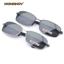= NOMANOV BRAND = Custom Made Nearsighted Minus Prescription Al-Mg Alloy Classic Fashion Sunglasses Polarized  -1 To -6