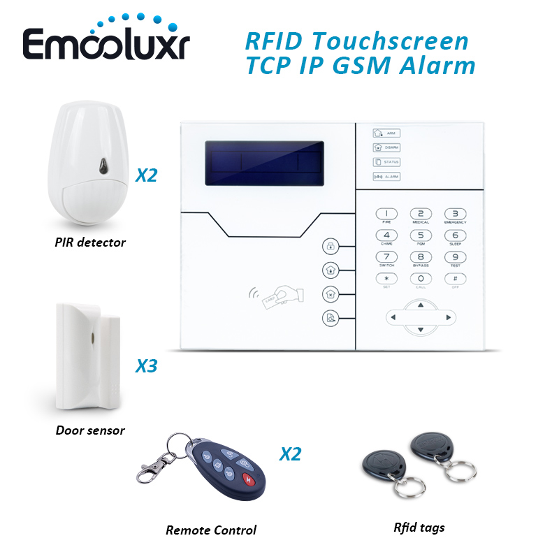 433MHz Home Alarm ST-VGT TCP/IP GSM Alarm Control Panel System,Support WEB IE Programmable and RFID Swipe Card Arm Disarm 868mhz focus st vgt tcp ip ethernet gsm gprs alarm system with touch keypad and pet friendly pir sensor web ie programmable