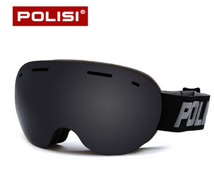 POLISI Men Women Snowboard Skate Eyewear Double Layer Anti-Fog Gray Lens Snow Skiing Goggles UV Protection Anti-Fog Ski Glasses polisi double layer lens ski snow glasses winter anti fog snowboard goggles uv400 protection skiing eyewear gafas de nieve