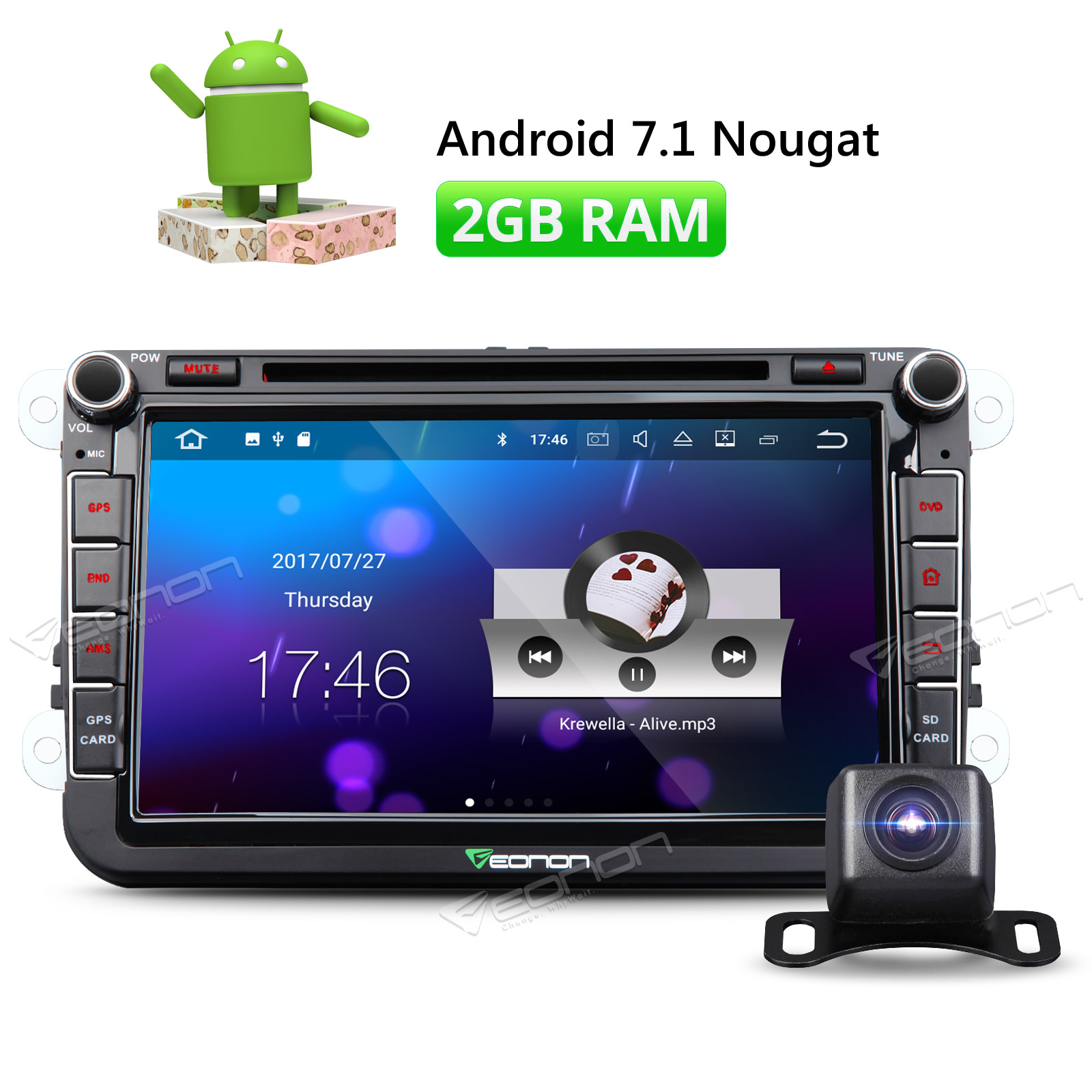 Eonon Android 71 8 Car Dvd Player Gps Navigation For Vw Volkswagen Wiring Diagram Bora Caddy Eos Golf Jetta Lavida New Sharan Camera In Multimedia From