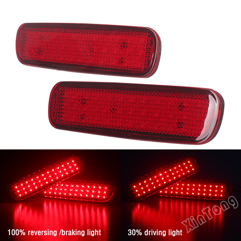 Car LED Rear Bumper Reflector Light For Toyota Land Cruiser 100/Cygnus LX470 LED Parking Warning Stop Brake Lamp Tail Lantern led rear bumper warning lights car brake light running lamp for toyota land cruiser 2016