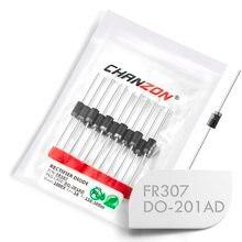 (20 pces) fr307 rápido recuperação retificador diodo 3a 1000 v 150-500ns DO-201AD (do-27) axial 3 amp 1000 volts fr 307 diodos