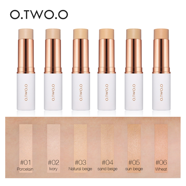 O.TWO.O Face Foundation Stick Makeup Matte Effect 6 Color Waterproof Long Lasting Concealer Face Contour Cosmetic 1